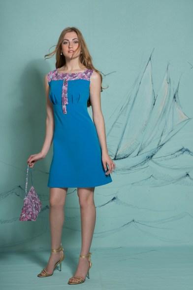 Платье Лазурная акварель