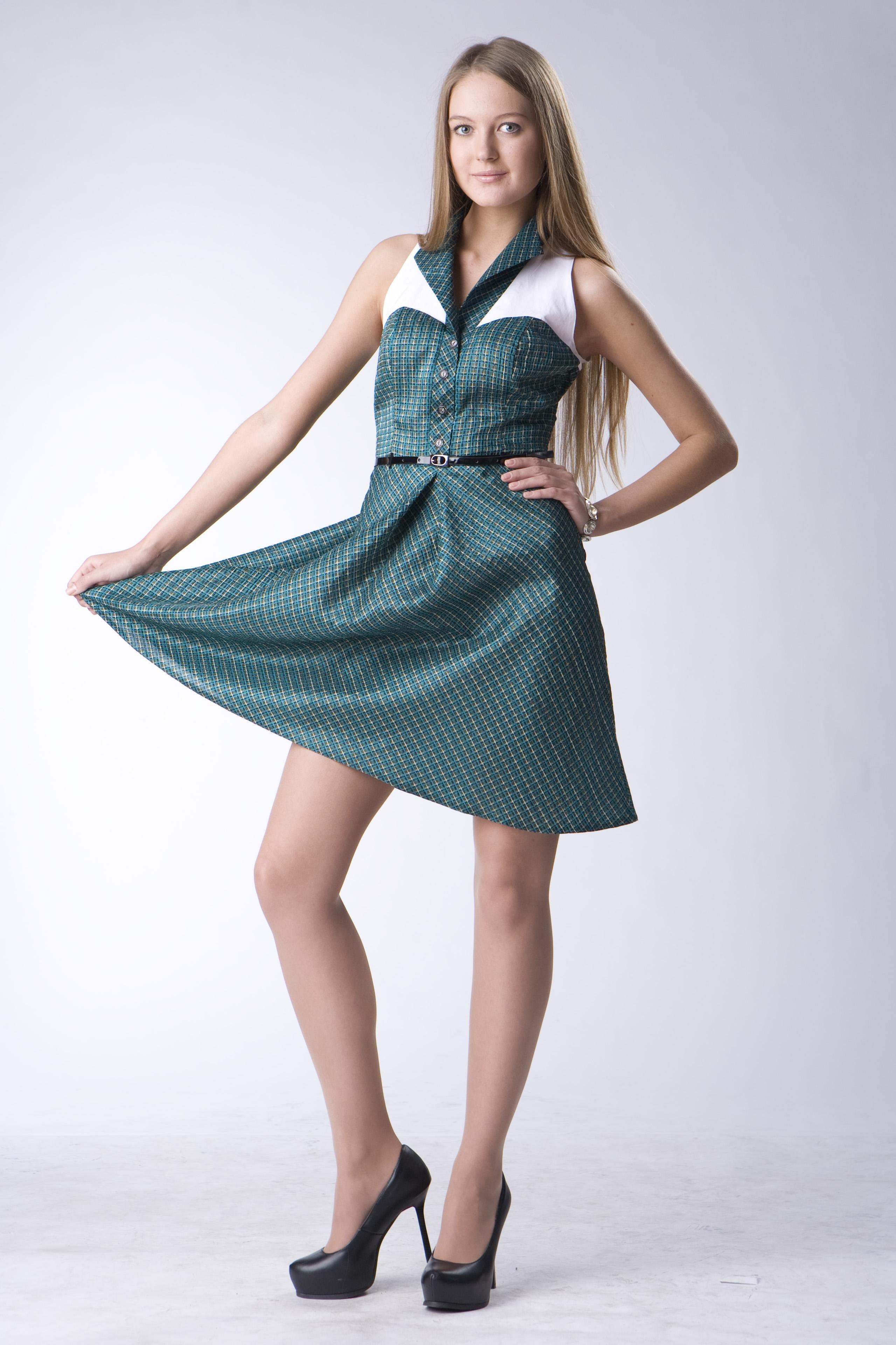 d2bf5cad600 Платье Изумрудная клетка бренд АНО купить в интернет магазине Леди...