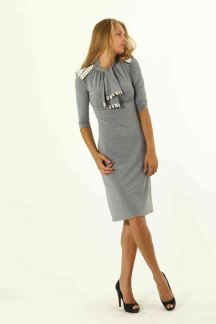 Платье Серая морячка