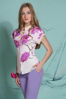 Блуза Бутон орхидеи