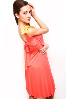 Платье Желтый коралл