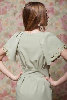 Платье Оливковые узоры