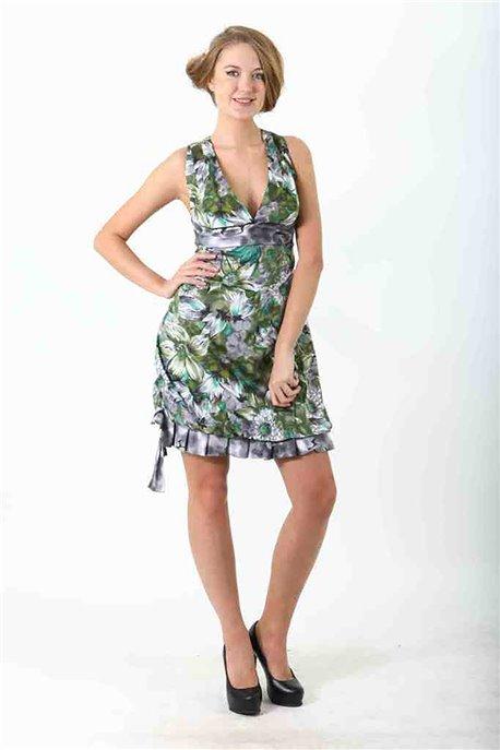 Платье Зеленый георгин