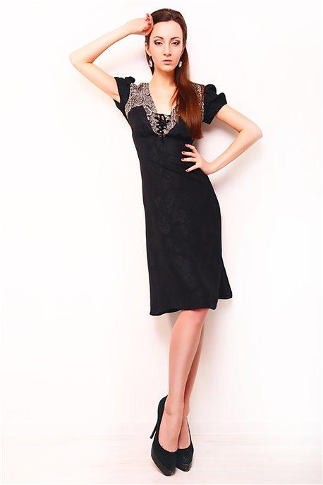 Платье Черный питон