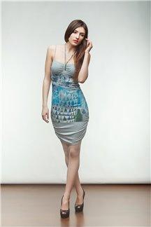 Платье Синие орнаменты