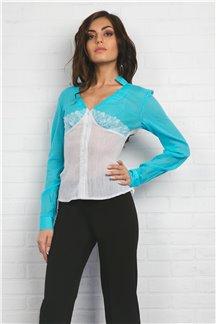 Блуза Бирюзовая геометрия