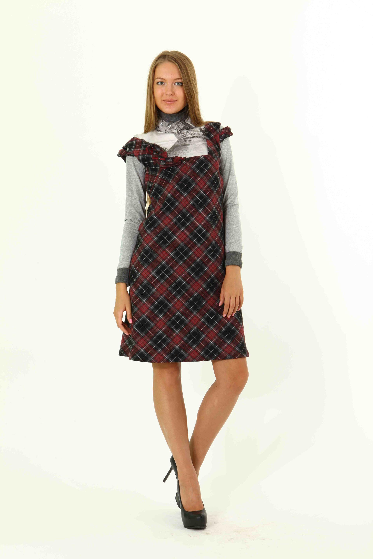 5f47f44c4da Платье Клетка-черешня бренд АНО купить в интернет магазине Леди Вера