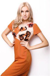 Платье Огненные цветы