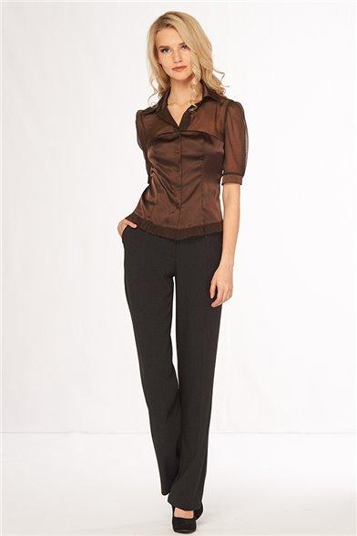 Блуза Темный шоколад - L
