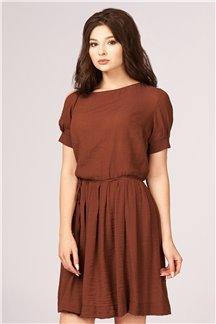Платье Янтарно-коричневое
