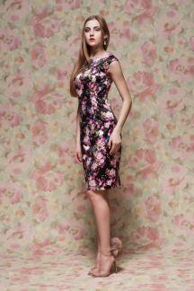 Платье Танго розовых цветов