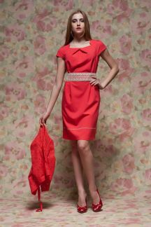 Платье Свежий коралл