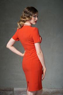 Платье Горячий терракот