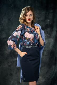 Блуза Текучая акварель