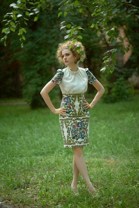 Платье Королевский букет