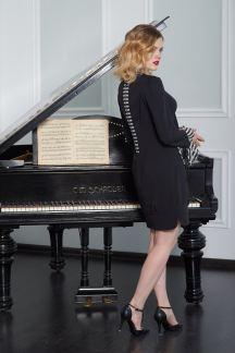 Платье Черный бутон