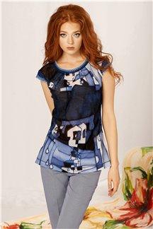Блуза Голубой антрацит - М