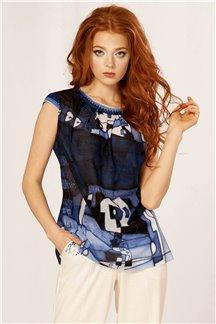 Блуза Голубой антрацит