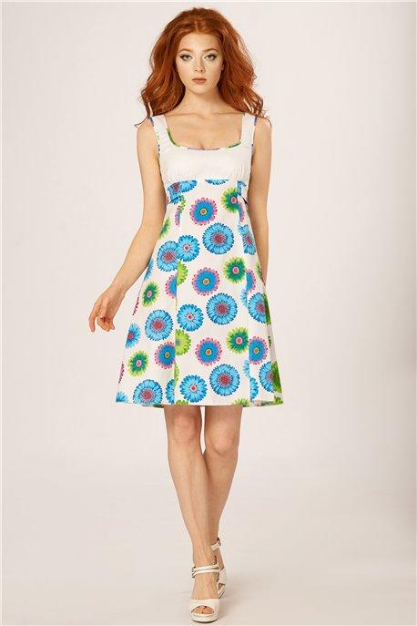Платье Голубые герберы