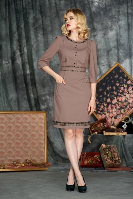 Платье Шоколадная карамель