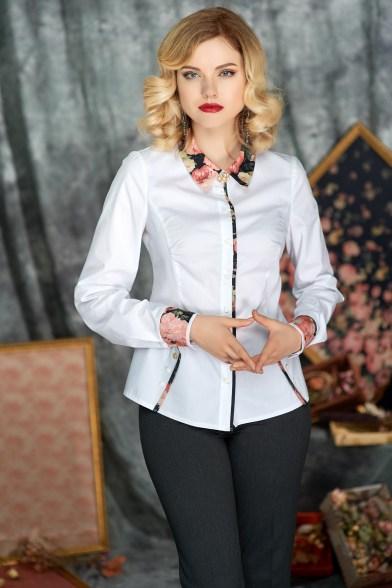 215-7018 Блуза Благородный белый
