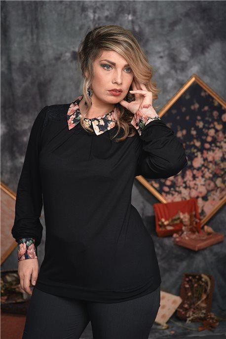 Блуза Таинственный черный - М