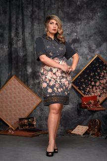 Платье Цветочный шик - М