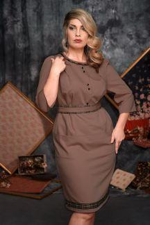 215-7014 Платье Шоколадная карамель