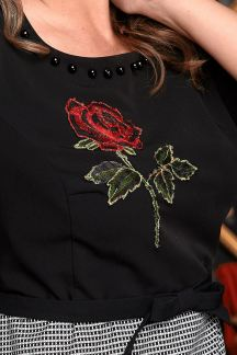 Платье Пурпурная роза - М