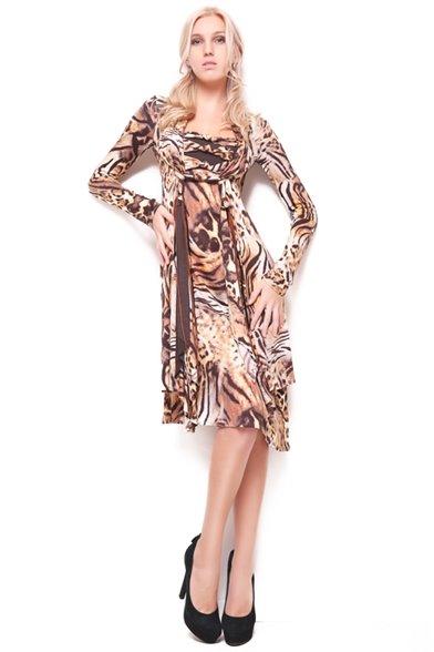 Платье Терракотовый питон