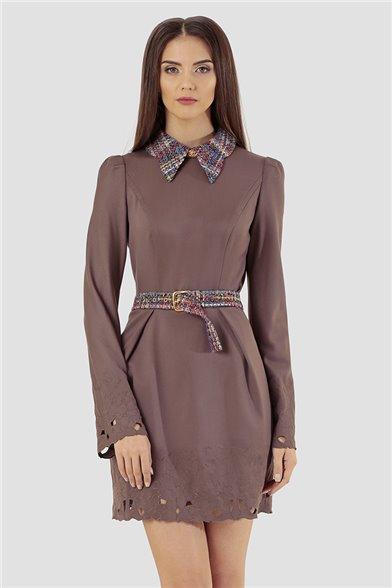 Платье Ажурный мокко