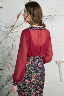 Платье Винная ягода