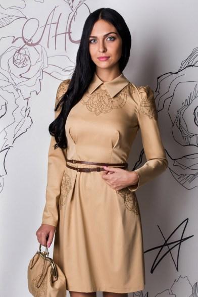 Платье Медовое золото