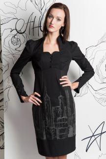 Платье Ночной мегаполис(графит)