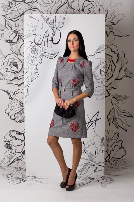 Платье Розовая композиция