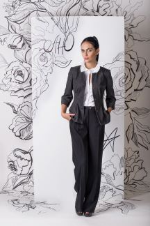 Жакет от костюма Графитовая романтика с брюками 210-5628