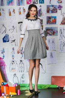 Платье Озорной пье-де-пуль