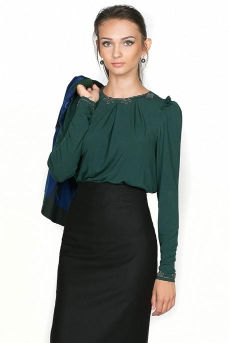 Блуза Изумрудная сдержанность