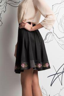 Юбка Черная роза