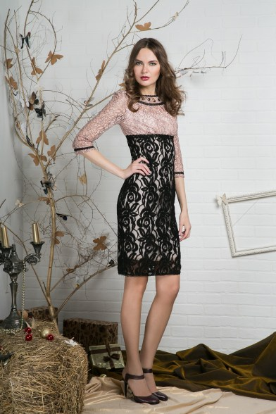 Платье кружевной изыск (розовое)