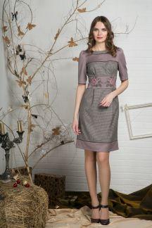 Платье Кофейный калейдоскоп