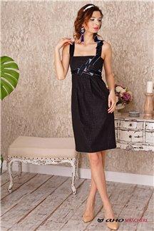 Платье Черный леопард