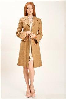 Пальто гречишный мед 4547/655 Paola 1