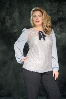 Блуза Таинственный серый-Муза