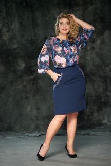Блуза Текучая акварель-Муза