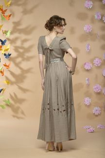 Платье Моя Мадлен (коричневое)