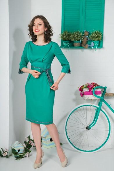 Платье Зелёное яблоко