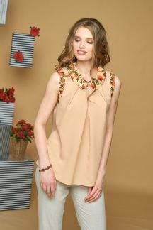 Блуза Ванильная роза(шифон)