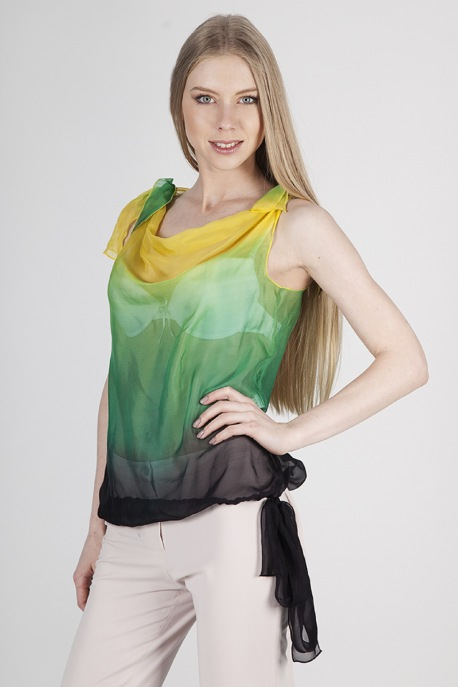 Блуза Зеленый лайм