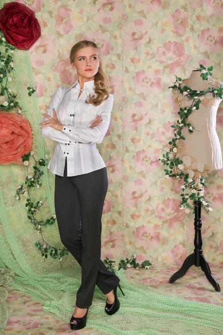 Блуза Белоснежное оригами